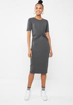 Superbalist - Knot front detail bodycon dress - grey