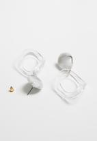 Superbalist - Oval perspex earrings - grey
