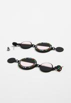 Superbalist - Blair disc statement earrings - black & pink