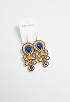 Superbalist - Carly jewelled earrings- yellow & blue
