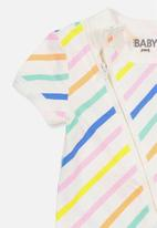 Cotton On - Mini short sleeve zip through romper - multi