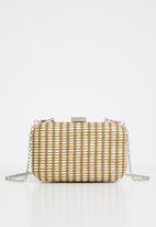 Superbalist - Tessa woven straw clutch bag - brown & white