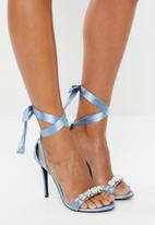 MHNY by Madison - Ankle strap heels - blue