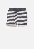 Cotton On - Henry slouch short - navy & grey