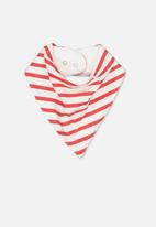 Cotton On - Dribble bib - white & red