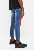 Superbalist - Skinny jeans cropped with raw hem - blue