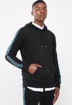 Superbalist - Taped hoodie pullover sweat - black