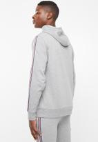 Superbalist - Taped hoodie pullover sweat - grey