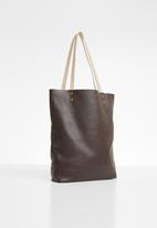 Superbalist - Heidi unlined leather shopper - brown
