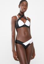 Lithe - Strappy monochrome bikini set - black & white