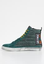 Diesel  - D-velows mid patch - teal green