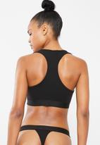 Superbalist - V-neck casual bra 2 pack - black & white