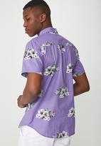 Cotton On - Short sleeve resort shirt - purple