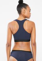 Superbalist - Scoop neck casual bra 2 pack -  navy & burgundy