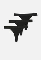 Superbalist - G-string 3 pack - black