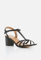 Butterfly Feet - Ankle strap heels - black