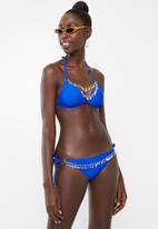Sissy Boy - Bikini top with gold trim - blue