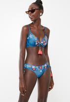 PIHA - Slim tie bikini top - blue