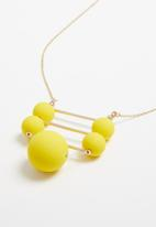 Superbalist - Jen necklace -  gold & yellow