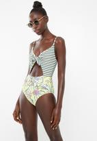 PIHA - Knot front swimsuit - multi