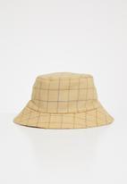Superbalist - Chance tartan bucket hat - beige