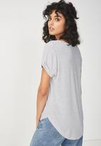 Cotton On - Karly short sleeve top - white & black