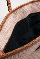 Joy Collectables - Contrast shopper tote bag - pale pink