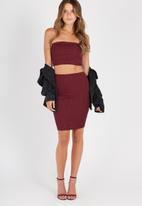 Supré  - Luxe rib tube skirt - burgundy