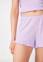 Cotton On - Rib frill short - purple