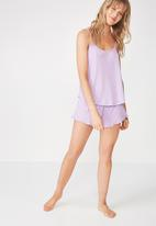 Cotton On - Rib sleep tank top - purple