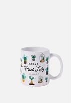 Typo - Anytime mug crazy plant lady - white