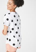 Cotton On - Jersey scoop T-shirt Disney Mickey - white & black