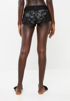 KANGOL - Crochet cover-up shorts - black