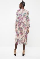 Vero Moda - Gina calf dress - pink