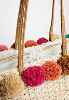 Superbalist - Pom pom basket bag - multi