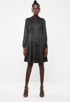Vero Moda - Wonda long sleeve dress - black