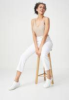 Cotton On - Kitty sleeveless bodysuit - blush pink & silver