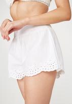 Cotton On - Textured shirred shorts - white