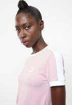 PUMA - Classics tight T7 tee - pink
