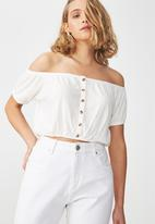 Cotton On - Sally off the shoulder top - white