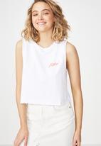 Cotton On - Tbar lola graphic tank - white