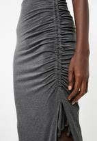 Superbalist - Drawcord midi skirt - charcoal