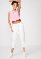 Cotton On - Tbar Lola graphic tank - pink