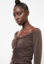 aefa4f2491f3 Ruched mini dress - brown Superbalist Occasion | Superbalist.com