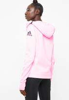 adidas - Z.N.E training hoodie - pink & black