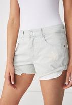 Cotton On - Mid rise Saturday denim shorts - blue
