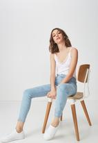 Cotton On - Mid rise grazer skinny jeans - blue