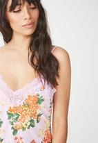 Cotton On - Lace slinky nightie - multi