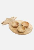 Sixth Floor - Semira wooden bowls set of 3
