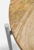 Sixth Floor - Dianara tray table - grey & wood